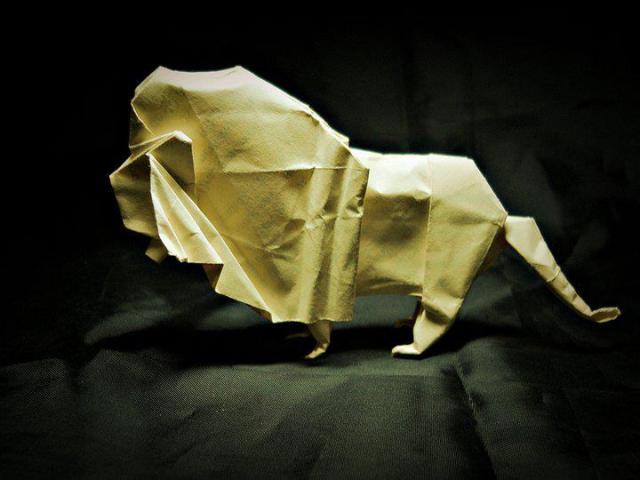 Origami Leão